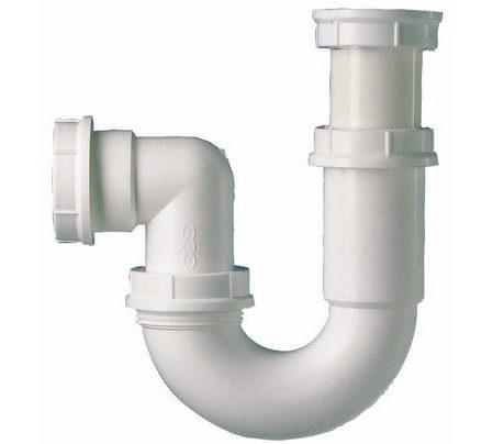 Siphon tubulaire pour broyeur d'évier.